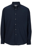 Men's Button Down Poplin Shirt LS Navy Thumbnail