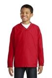 Youth V-neck Raglan Wind Shirt True Red Thumbnail