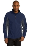 Corevalue Colorblock Soft Shell Jacket Dress Blue Navy with Battleship Grey Thumbnail