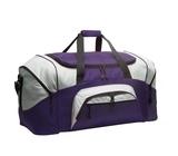Colorblock Sport Duffel Purple with Grey Thumbnail