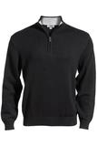 87 Cotton/13 Nylon Pull Over Sweater Black Thumbnail