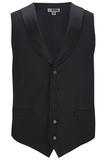 Men's Satin Shawl Vest Black Thumbnail