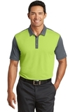 Nike Golf Dri-FIT Colorblock Icon Modern Fit Polo Chartreuse with Dark Grey Thumbnail