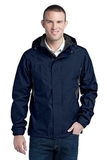 Eddie Bauer Rain Jacket River Blue Navy Thumbnail