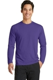 Long Sleeve Essential Blended Performance Tee Purple Thumbnail