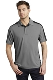 OGIO Trax Moisture Wicking Polo Petrol Grey with Blacktop and Shock Green Thumbnail