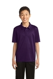 Youth Silk Touch Performance Polo Bright Purple Thumbnail