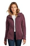 Women's Perfect Weight Fleece Drop Shoulder Full-Zip Hoodie Heathered Loganberry Thumbnail