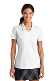 Women's Nike Golf Shirt Dri-FIT Micro Pique Polo Shirt White Thumbnail
