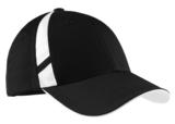 Dry Zone Mesh Inset Cap Black with White Thumbnail