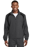 Colorblock Raglan Jacket Graphite with Black Thumbnail