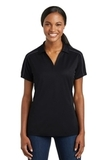 Women's Micropique Sport-wick Piped Polo Black with Iron Grey Thumbnail