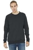 BELLACANVAS Unisex Sponge Fleece Raglan Sweatshirt Dark Grey Heather Thumbnail