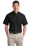 Short Sleeve Twill Shirt Black Thumbnail
