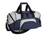 Improved Colorblock Small Sport Duffel Navy with Grey Thumbnail