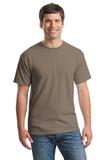 Heavy Cotton 100 Cotton T-shirt Brown Savana Thumbnail