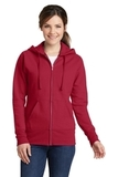 Women's Classic Full-Zip Hooded Sweatshirt Red Thumbnail
