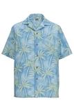 Tropical Camp Shirt Palm Print Blue Thumbnail