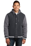 Insulated Letterman Jacket Graphite with Vintage Heather Thumbnail
