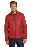 Packable Puffy Jacket Fire Red with Graphite Thumbnail