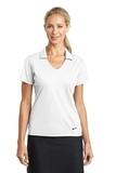 Women's Nike Golf Dri-FIT Vertical Mesh Polo White Thumbnail