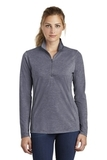 Women's Tri-Blend Wicking 1/4-Zip Pullover True Navy Heather Thumbnail