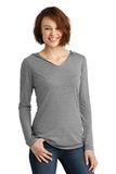 Women's Perfect Tri-Long Sleeve Hoodie Grey Frost Thumbnail