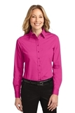 Women's Long Sleeve Easy Care Shirt Tropical Pink Thumbnail