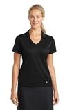 Women's Nike Golf Dri-FIT Vertical Mesh Polo Black Thumbnail