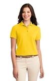 Women's Silk Touch Polo Shirt Sunflower Yellow Thumbnail
