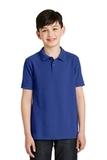 Youth Silk Touch Polo Shirt Royal Thumbnail
