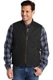 Washed Duck Cloth Vest Black Thumbnail