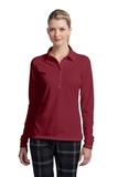 Women's Nike Golf Long Sleeve Dri-FIT Stretch Tech Polo Shirt Varsity Red Thumbnail