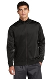 Tricot Track Jacket Black with Black Thumbnail