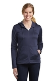 Women's Nike Golf Therma-FIT Full-Zip Fleece Hoodie Midnight Navy Thumbnail