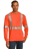 Cornerstone Ansi 107 Class 2 Long Sleeve Safety T-shirt Safety Orange with Reflective Thumbnail