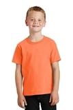 Youth 5.5-oz 100 Cotton T-shirt Neon Orange Thumbnail