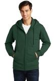 Port & Company Fan Favorite Fleece Full-Zip Hooded Sweatshirt Forest Green Thumbnail