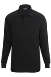 Edwards Tactical Snag Proof Unisex Long Sleeve Polo Shirt Black Thumbnail
