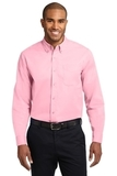 Long Sleeve Easy Care Shirt Light Pink Thumbnail
