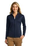 Women's Heavyweight Vertical Texture Full-zip Jacket True Navy with Iron Grey Thumbnail