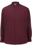 Men's Banded Collar Shirt Burgundy Thumbnail