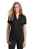 Women's Nike Golf Dri-FIT Hex Textured V-Neck Top Black Thumbnail