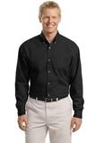 Tall Long Sleeve Twill Shirt Black Thumbnail