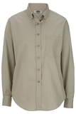 Women's Poplin Shirt LS Tan Thumbnail