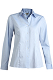 Women's No-iron Stay Collar Dress Shirt Light Blue Thumbnail