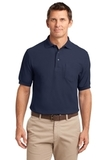Silk Touch Polo Shirt With Pocket Navy Thumbnail