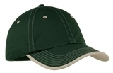Vintage Washed Contrast Stitch Cap Hunter with Stone Thumbnail