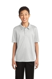Youth Silk Touch Performance Polo White Thumbnail
