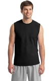Ultra Cotton Sleeveless T-shirt Black Thumbnail